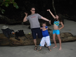 Chris, Tristan, and Kara and Playa Manuel Antonio