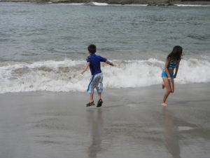 Kara and Tristan at Playa Manuel Antonio
