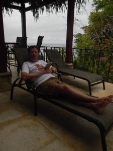 Chris relaxing poolside