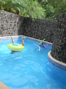 The kids had a blast at the private plunge pool