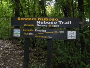 Sendero Nuboso is an easy trail technically but it has some steep slopes. Take comfortable shoes and plenty of water.