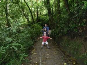 On the trail at Monteverde Biological Reserve