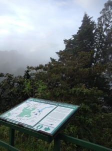 "View from the Children's Eternal Rain Forest Information Center at the entrance of Monteverde ""proper""."
