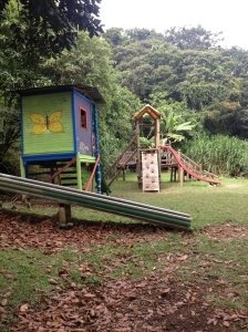 Playground at Creativa. The highlight of the campus for the kids!
