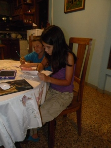 I know I am their mom, but they look so cute working on their homework together!