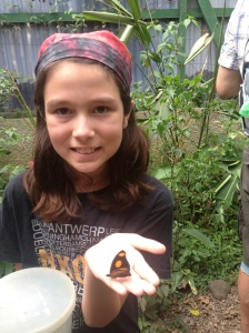 Kara was selected to release a newly-hatched butterfly into one of the climate-regulated gardens.