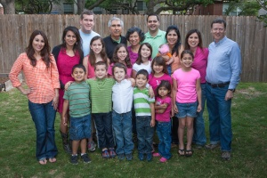 My side of the family. We are quite colorful. Papa and Pita are in the center.