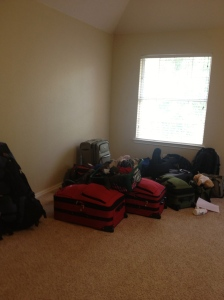 With the exception of the green laundry basket, this was all stuff we brought with us to Costa Rica.