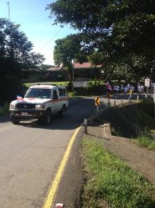 """""""La Antorcha de Independencia"""" arrives in Santa Elena."""