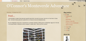 The O'Connors In Monteverde Blog Home Page
