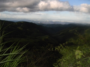 The view coming down the mountain from Monteverde.