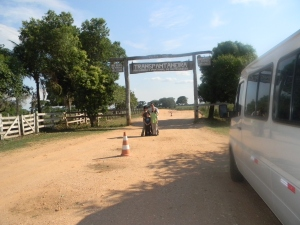 This is the entrance to the only road leading to the Pantanal.