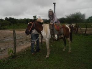 Kara on a horse at Southwild Pantanal Lodge.
