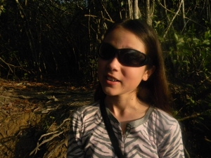 Kara on a hike to find the Potoo bird.