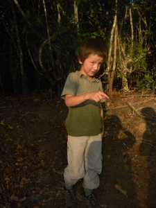 Tristan on a hike to find the Potoo bird.