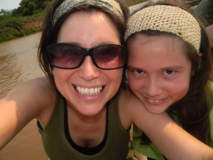 "Kara and I ""selfie"" in the Pantanal, Brazil."