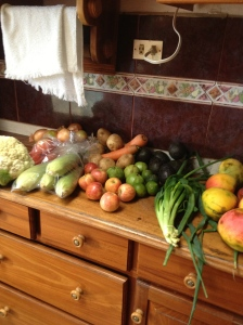Beautiful produce from la Feria de Agricultor